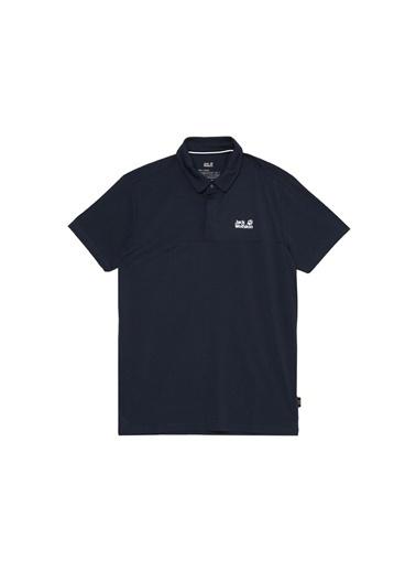 Jack Wolfskin Jack Wolfskin Koyu Mavi Erkek Polo T-Shirt Mavi